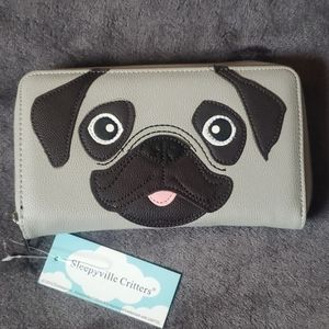 New! Adorable Pug Clutch